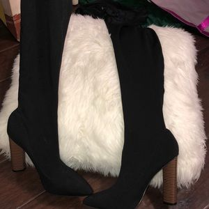 1a47ac02137d Shoes - Sock thigh high boots